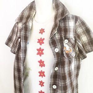 Jackets & Blazers - 1970s jacket/smock w/ fox patch